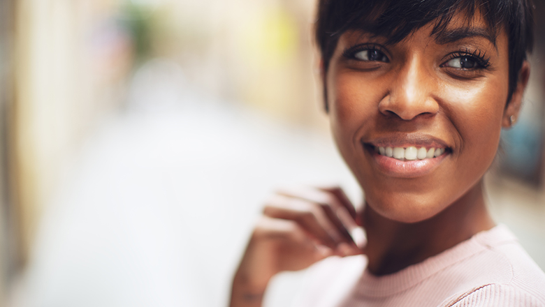 photo of a smiling woman