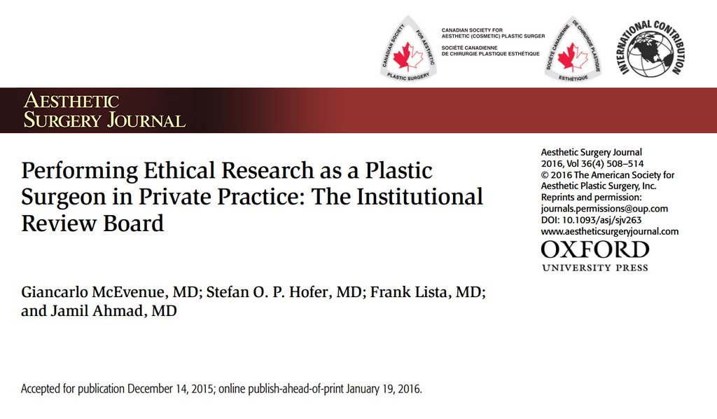 plastic surgery journal article