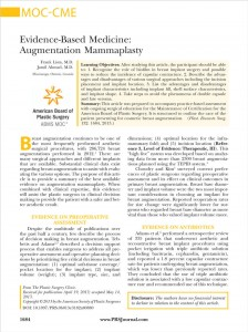 Breast Augmentation Journal Article
