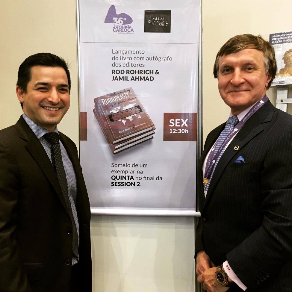 Dr. Ahmad and Dr. Rohrich promote rhinoplasty textbook