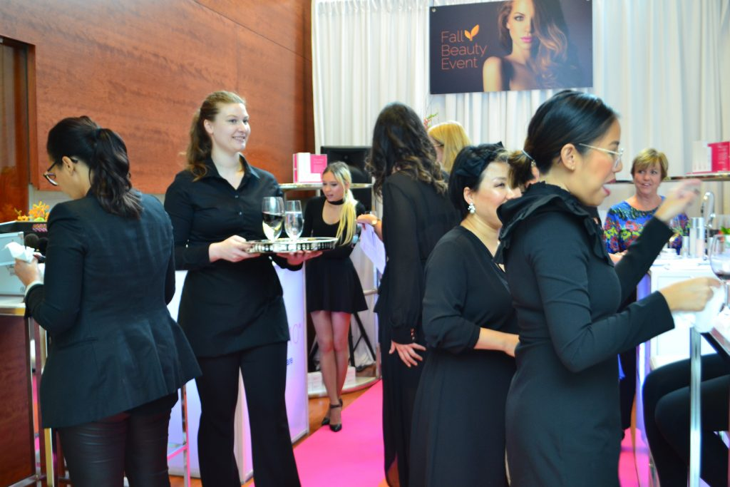 attendees at The Fall Beauty event