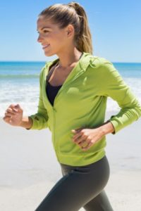 Woman jogging after labia reduction