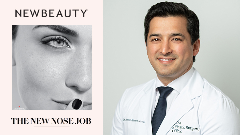 Photo of Dr. Ahmad and NewBeauty artcicle
